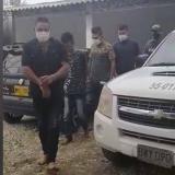 Los capturados por la Policía.