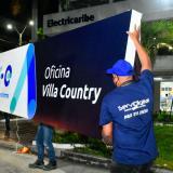 Oficinas de Air-e en Barranquilla, antes de Electricaribe, ya lucen la nueva imagen.