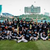Los Marlins de Miami celebraron el triunfo en el Wrigley Field.