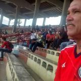 Rolando Campbell en el antiguo estadio Romelio Martínez.