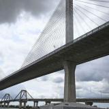 Panorámica del nuevo puente Pumarejo.