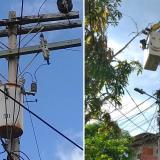 Tras reporte de Wasapea, arreglan poste en El Manantial