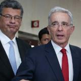 Álvaro Uribe Vélez, expresidente, y su abogado Jaime Granados.