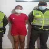 Yulis Paola Cantillo López, alias la Pelu, capturada.