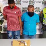 Hernán Darío Rojas vega y Johnny Palmera Camacho, capturados.
