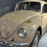 """El Volkswagen escarabajo del año 1968 usado por Ted Bundy para capturar a sus víctimas, en la exposición """"From Car to Incarceration-Ted Bundy"""