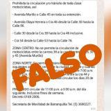 Tránsito de Barranquilla desmiente información que circula sobre motos