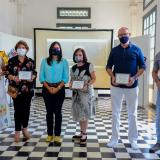 La secretaria de Cultura, Patrimonio y Turismo, María Teresa Fernández, entregó los reconocimientos.