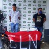 Atentados en Curumaní: dos capturados con granada y bandera del Eln