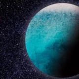 Ilustración del planeta LHS1140 b. Se cree que tiene un océano de agua líquida.