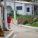 Sector de la calle 5B con carrera 8, del barrio Solimar, en Salgar, donde se registró el atentado.