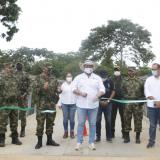 Con puente militar habilitan paso por la quebrada Los Pescados, en Córdoba