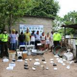 En video | Desmantelan laboratorio productor de cocaína en Polonuevo