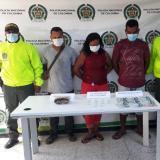 Capturan a tres personas durante allanamiento en Riohacha