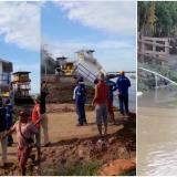 En video   ¡Alerta en Salamina!, erosión derribó la caseta del ferry