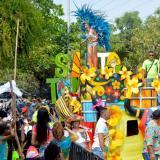 La Batalla de Flores de Santo Tomás es uno de los grandes eventos del Carnaval del Atlántico.