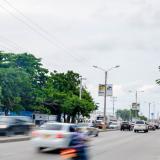 Cámara de fotomultas ubicada en la Vía 40 entre las calles 73 y 75, en la ciudad de Barranquilla