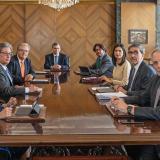 Miembros de la junta directiva del Banco de la República en una reunión.