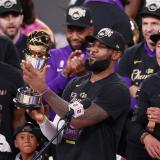 LeBron James se coronó campeón de la NBA 2020 con los Lakers de Los Ángeles.