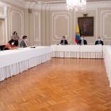 Delegación de Farc se reúne con Duque en la Casa de Nariño