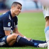 Cristiano se retiró del Lazio-Juventus con molestias en un tobillo