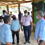 Presidente Duque recorrió zonas afectadas por fuertes lluvias en San Andrés