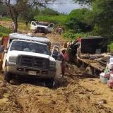 Zona de la Alta Guajira afectada por las constantes lluvias.