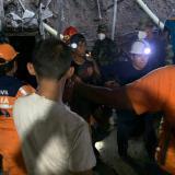 Durante diez horas estuvieron atrapados los 14 mineros en la mina Fogaje