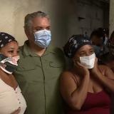 En video | Duque visita zonas afectadas por Iota en Cartagena