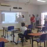 La secretaria de Educación, Olga Acosta, acompañó el proceso de retorno a las aulas de estudiantes de calendario B de Cartagena.