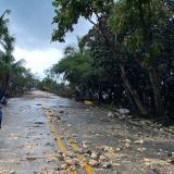 Destrozos causados por el huracán Iota en San Andrés.