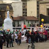 Protestas del paro nacional: en calma pero breves por la lluvia