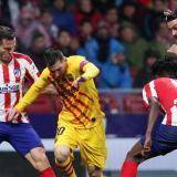 1-0 quedó el marcador a favor del Atlético de Madrid derrotando al Barcelona en el Wanda Metropolitano.