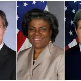 Tony Blinken, Linda Thomas-Greenfield y John Kerry.