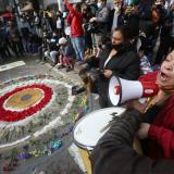 En video | Claudia López fue abucheada durante homenaje a Dilan Cruz