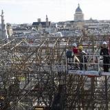 Las obras de Notre-Dame han retirado ya todo el andamiaje quemado