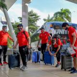 El Unión La Calera arribó este martes a Barranquilla en horas de la tarde.