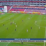 En video | En Ecuador paran partido al minuto 10 en homenaje a Maradona