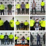 Policía captura a nueve personas implicadas en homicidios