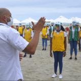 Los Gestores Heroicos se tomaron este miércoles las cinco las playas autorizadas por el Distrito en Bocagrande.