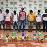 Siete de los diez capturados en operativos en Cartagena.