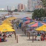 Este es el quinto tramo de playa biosegura reabierta en Bocagrande.