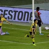El festejo de Lautaro Palacio tras marcar el gol de la victoria de Coquimbo Unido.
