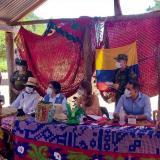 La vicepresidenta de la República Marta Lucía Ramírez en la comunidad wayuu Tútchon del municipio de Manaure. La Guajira.