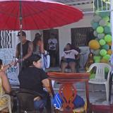 Aspecto de una celebración familiar en un barrio del suroccidente, sin el cumplimiento de las medidas.