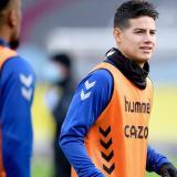 James Rodríguez sigue siendo baja en el Everton