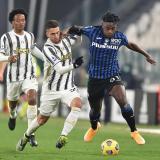 Con Duván Zapata y Luis F. Muriel, Atalanta empató 1-1 con Juventus