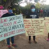 Plantón de campesinos por contaminación de lixiviados en Ciénaga