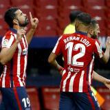 Diego Costa celebrando su último gol con el Atlético de Madrid.