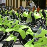 Las motos serán distribuidas en 18 municipios del departamento.